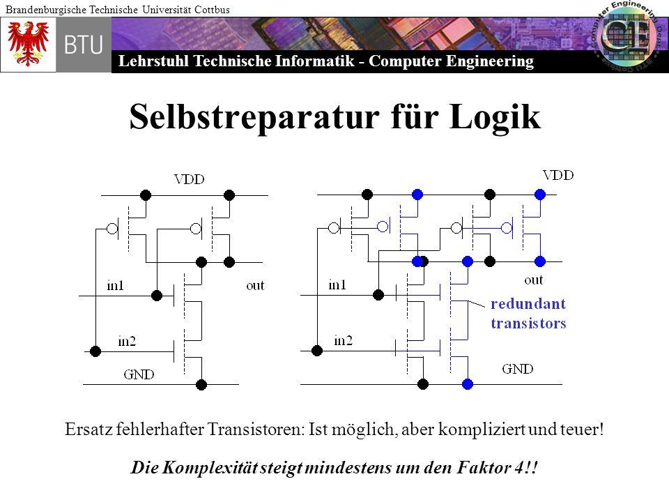 Lehrstuhl Technische Informatik - Computer Engineering Brandenburgische Technische Universität Cottbus Selbstreparatur für Logik Ersatz fehlerhafter T