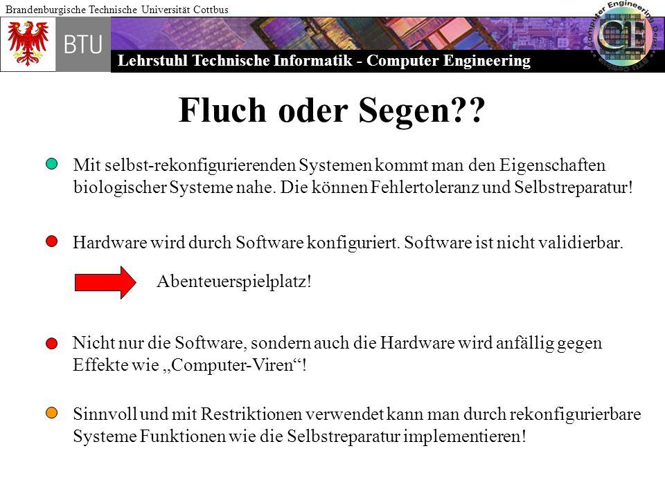 Lehrstuhl Technische Informatik - Computer Engineering Brandenburgische Technische Universität Cottbus Fluch oder Segen?? Mit selbst-rekonfigurierende