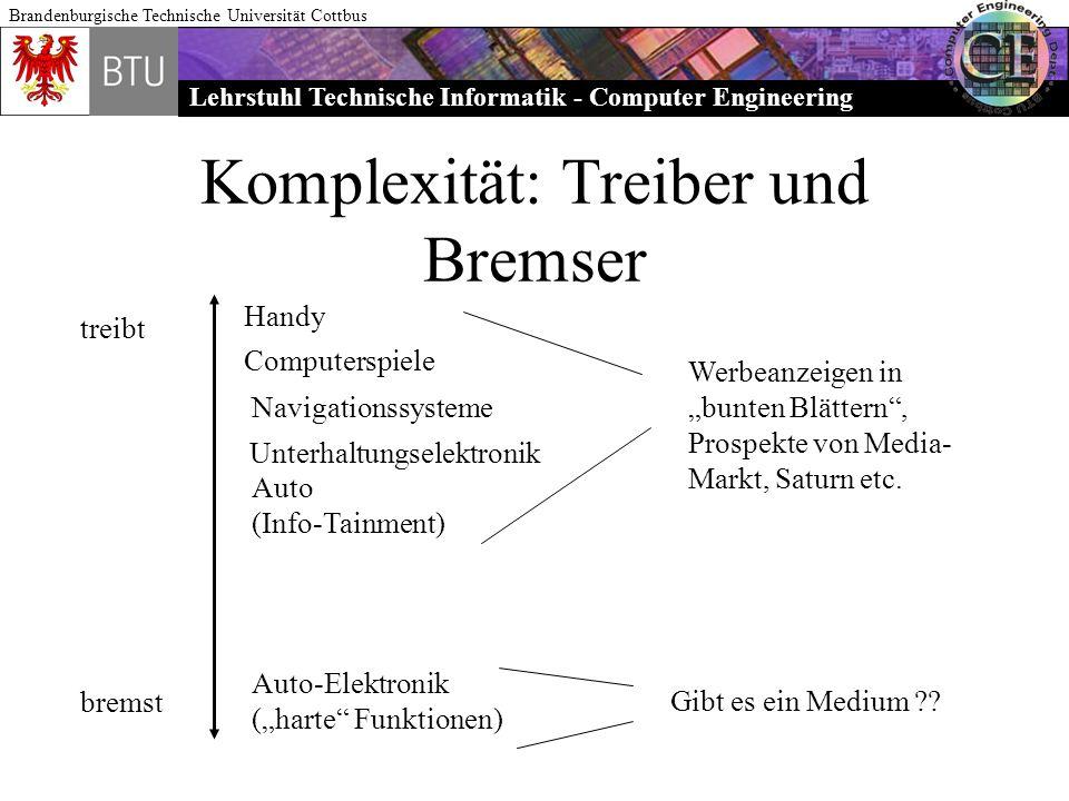 Lehrstuhl Technische Informatik - Computer Engineering Brandenburgische Technische Universität Cottbus Komplexität: Treiber und Bremser treibt bremst