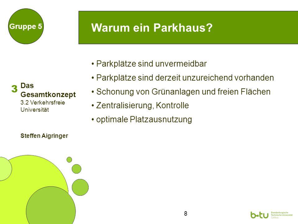 8 Warum ein Parkhaus.