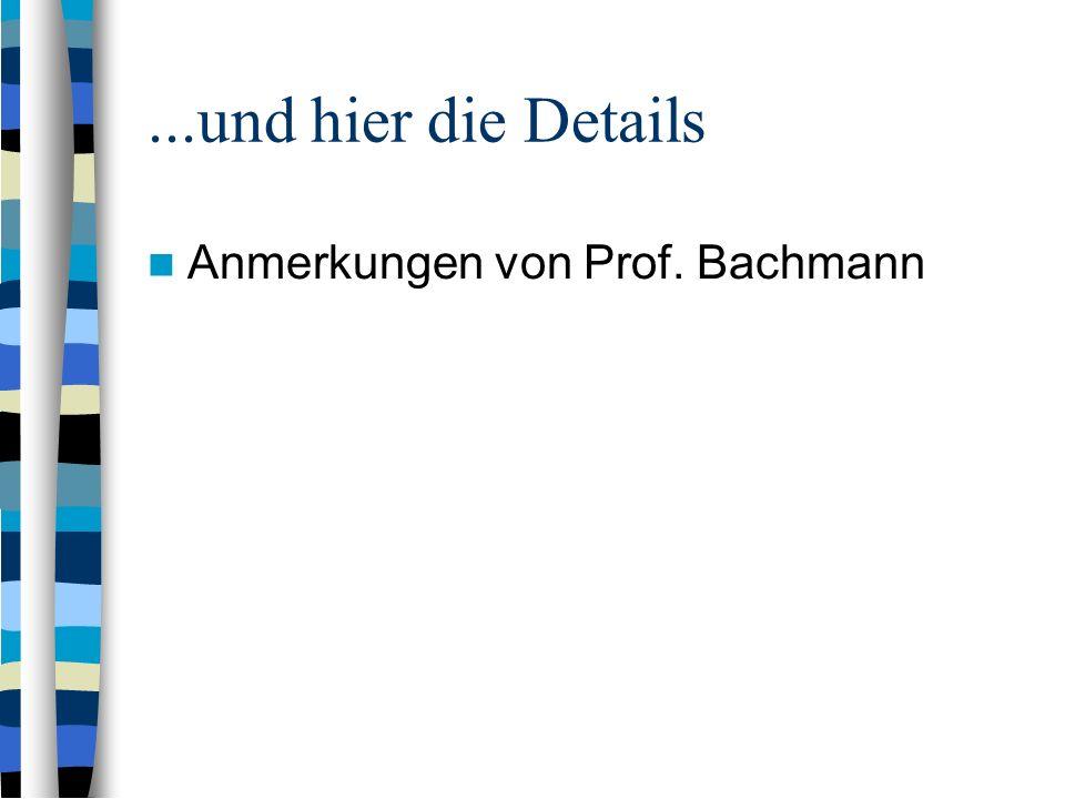 ...und hier die Details Anmerkungen von Prof. Bachmann