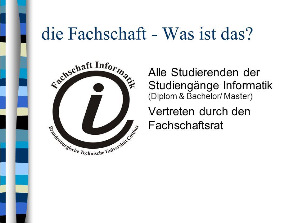...und wer ist der Fachschaftsrat.Matthias Ostrowski (Sprecher) Christian Köhler (stellv.