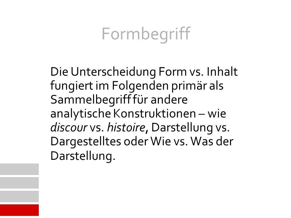 Formbegriff Die Unterscheidung Form vs.