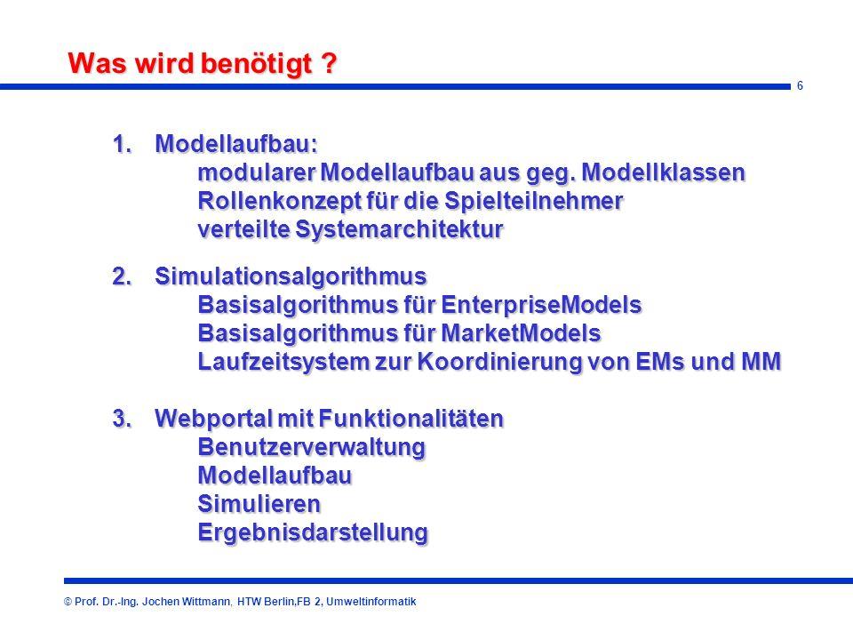 6 Was wird benötigt .© Prof. Dr.-Ing.