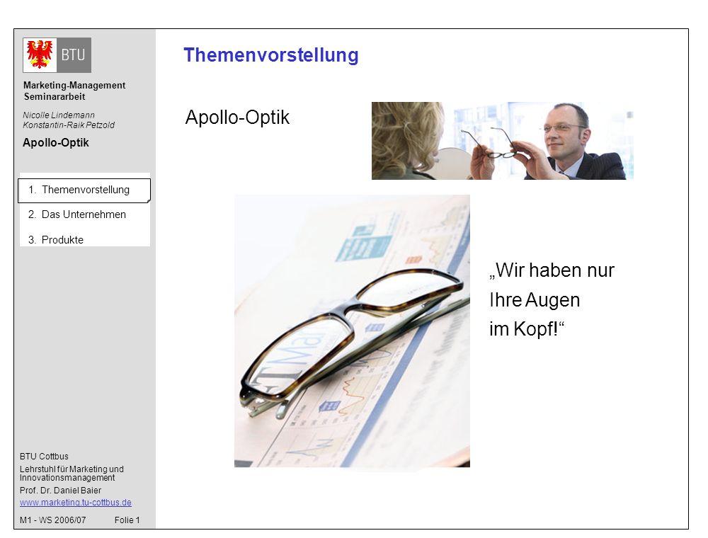 BTU Cottbus Lehrstuhl für Marketing und Innovationsmanagement Prof.