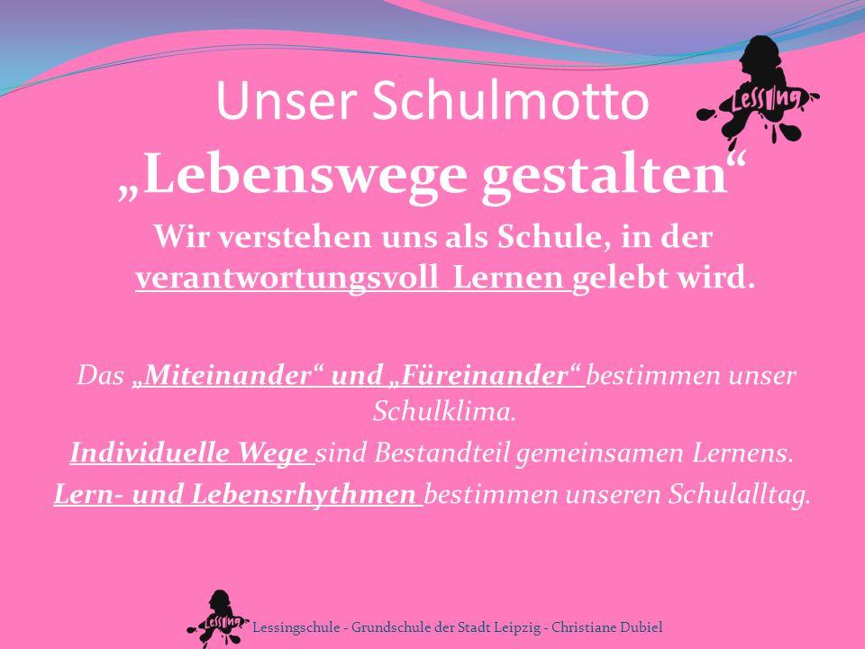www.lessing-grundschule.de info@lessing-grundschule.de Lessingschule - Grundschule der Stadt Leipzig - Christiane Dubiel