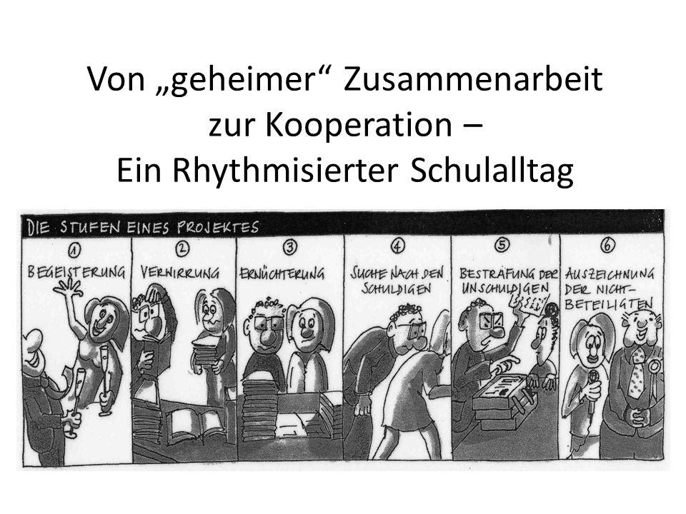 Von geheimer Zusammenarbeit zur Kooperation – Ein Rhythmisierter Schulalltag
