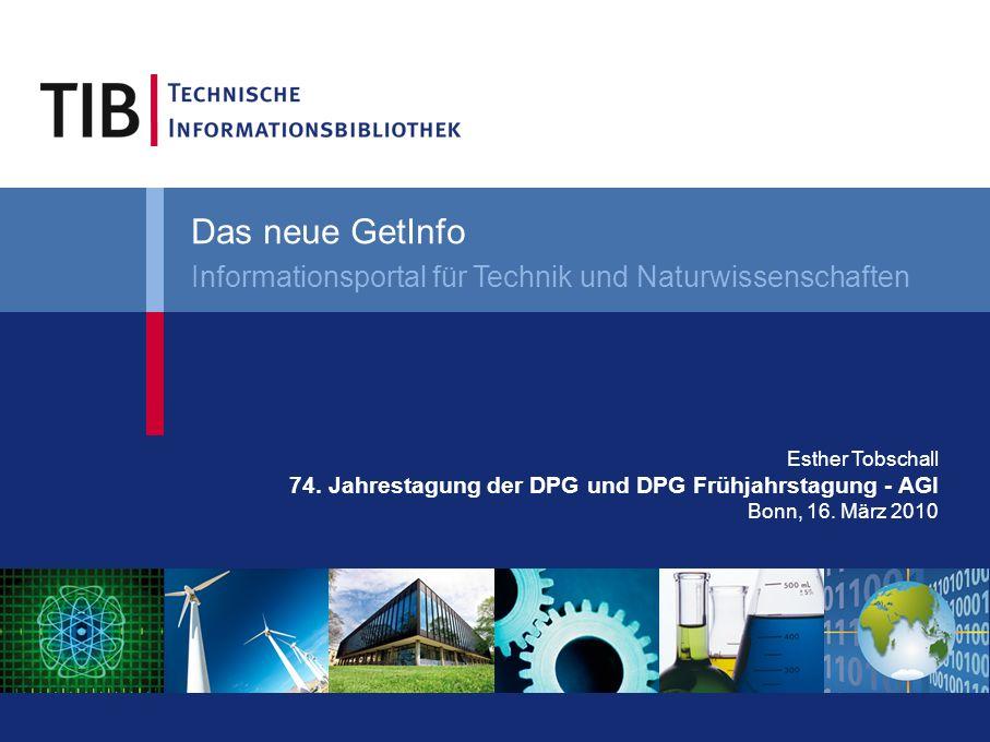 Esther Tobschall 74. Jahrestagung der DPG und DPG Frühjahrstagung - AGI Bonn, 16.