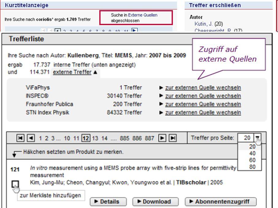 26 GetInfo Usability-Studie – Ergebnisse Trefferanzeige