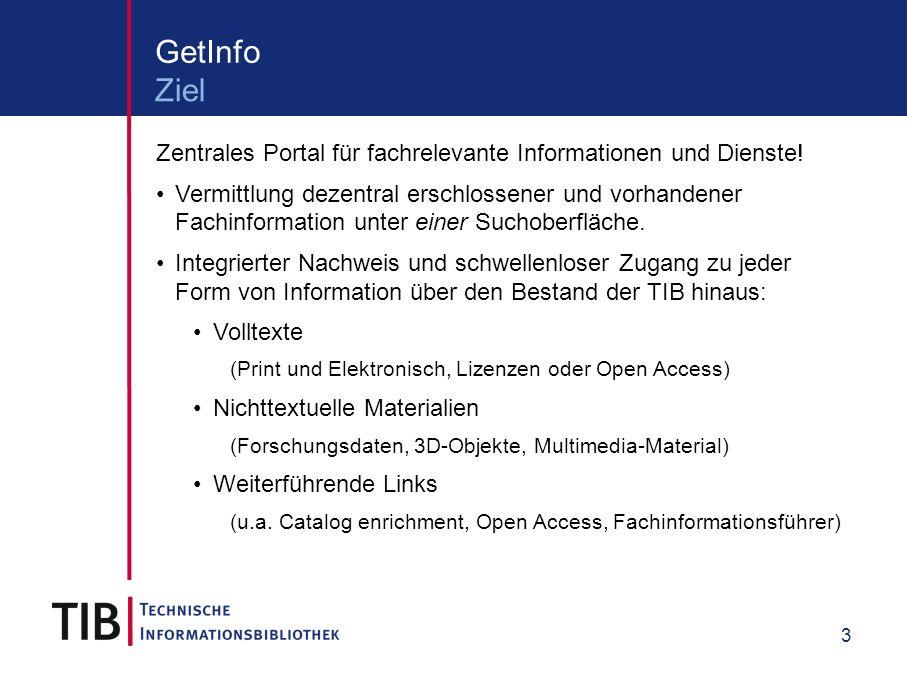 3 Zentrales Portal für fachrelevante Informationen und Dienste.