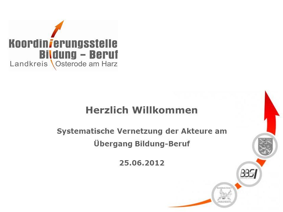 Herzlich Willkommen Systematische Vernetzung der Akteure am Übergang Bildung-Beruf 25.06.2012