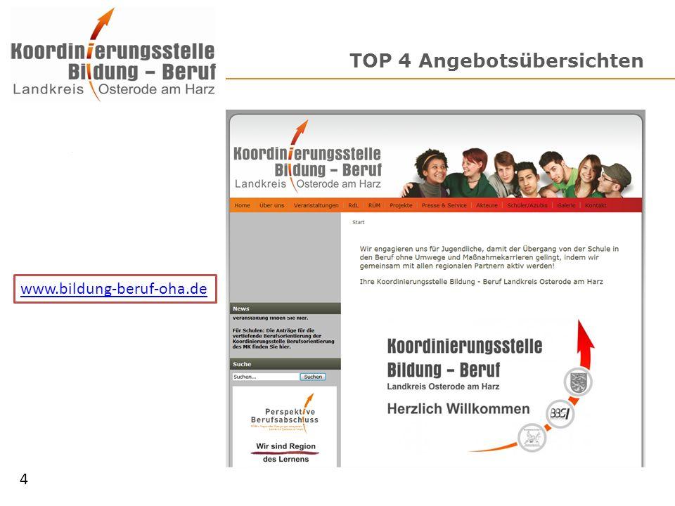 TOP 4 Angebotsübersichten 4 www.bildung-beruf-oha.de