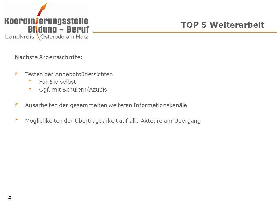 TOP 6 Organisatorisches 6 Fragen & Anregungen Nächster Terminvorschläge: Montag 16.07.2012, 15:00 Uhr Dienstag 17.07.2012, 15:00 Uhr