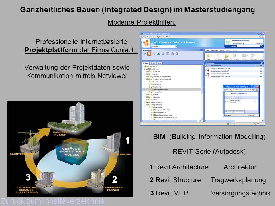 Ganzheitliches Bauen (Integrated Design) im Masterstudiengang Zurück zum Inhaltsverzeichnis Projekt WS 08/09 Bürogebäude im Herz-Jesu-Garten Zukunftsm