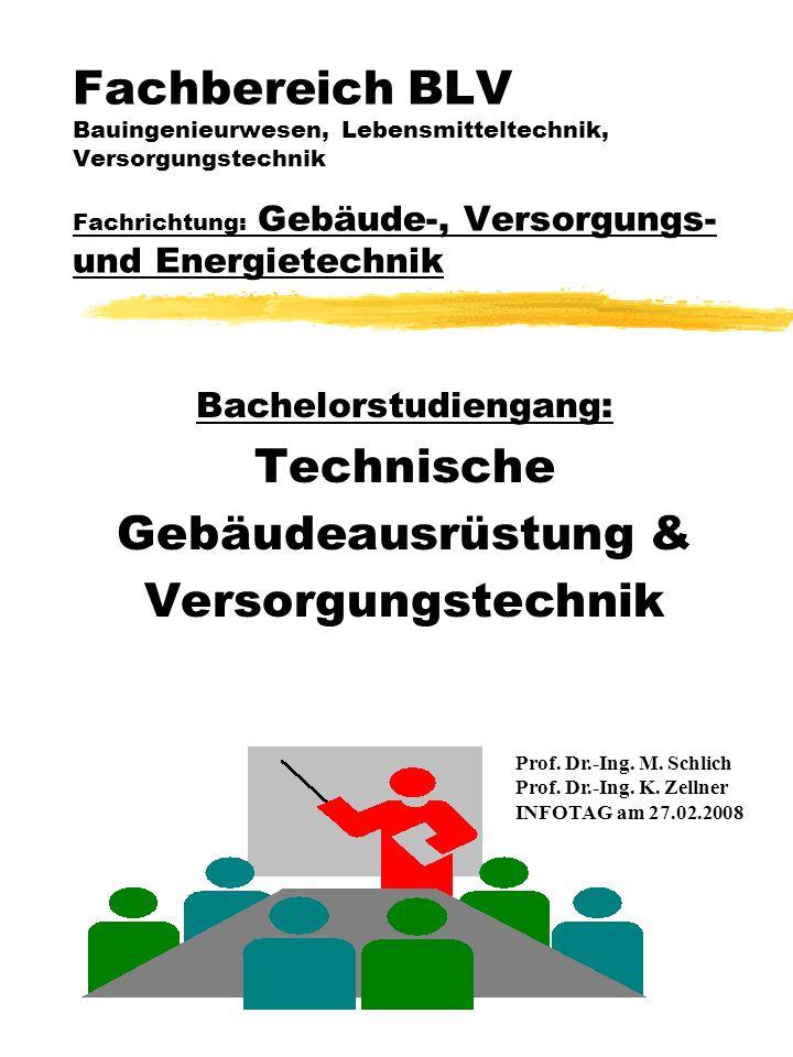 Fachbereich BLV Bauingenieurwesen, Lebensmitteltechnik, Versorgungstechnik Fachrichtung: Gebäude-, Versorgungs- und Energietechnik Bachelorstudiengang