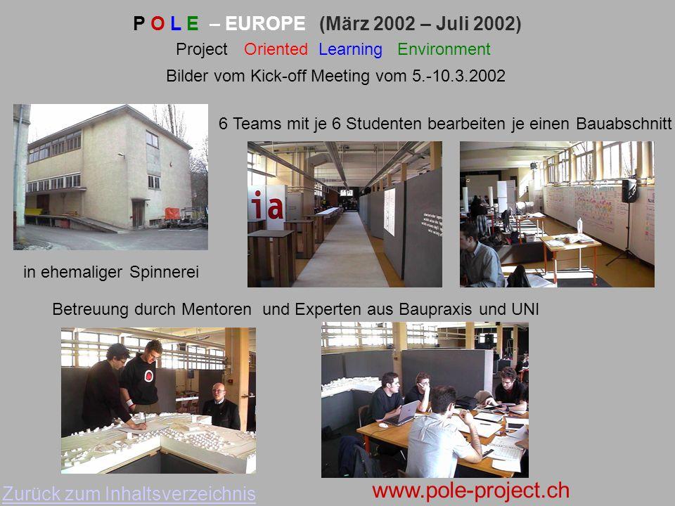 Universität Aalborg Architektur Politecnico di Milano Architektur Techn. Universität-Delft Baubetrieb Fachhochschule Aargau Process Manager ETH - Züri