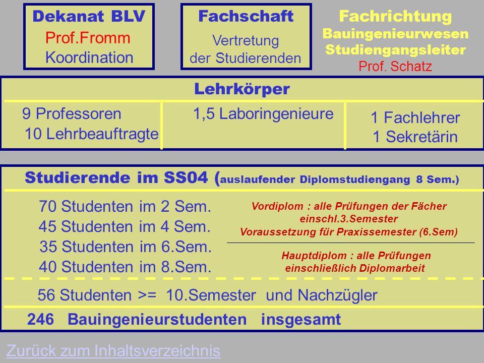 Fachrichtung Bauingenieurwesen Studiengangsleiter Prof.