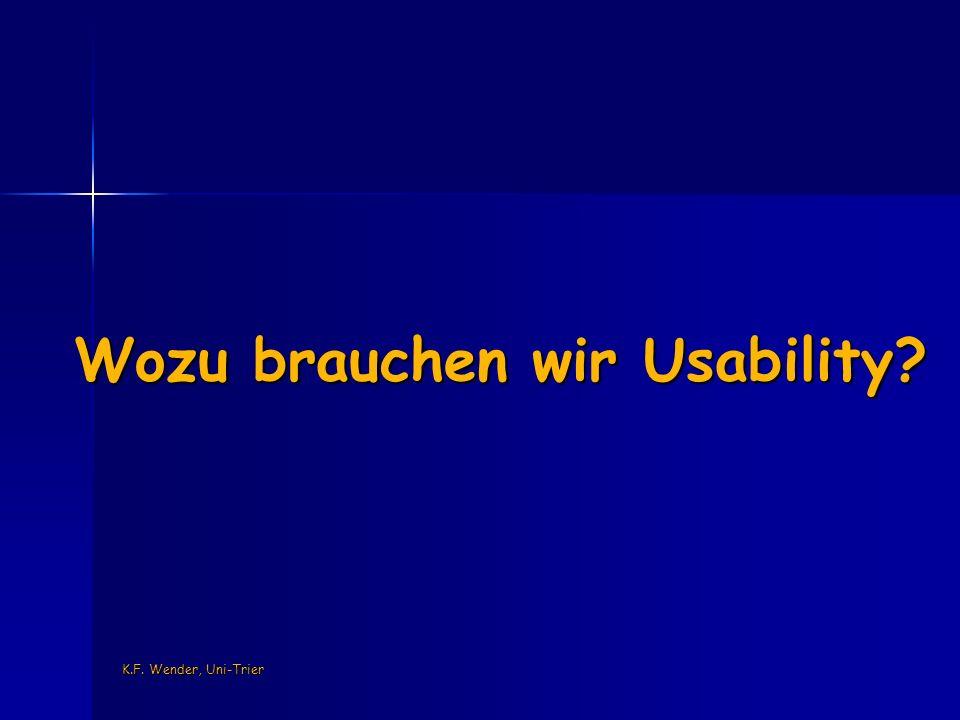 K.F. Wender, Uni-Trier User