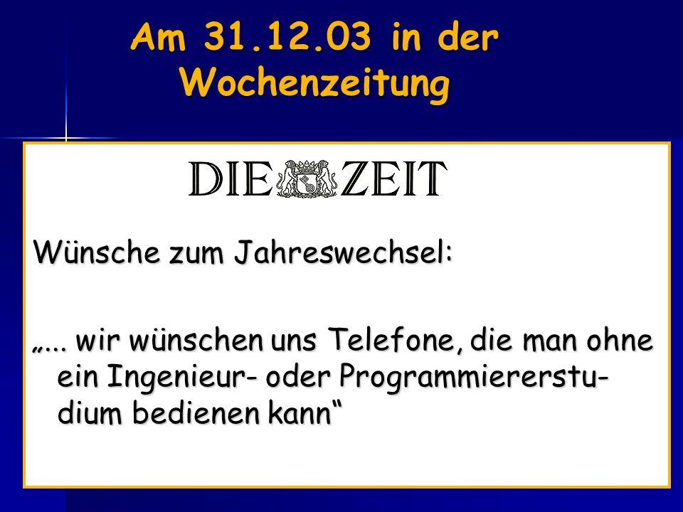 K.F. Wender, Uni-Trier Am 31.12.03 in der Wochenzeitung Wünsche zum Jahreswechsel:...