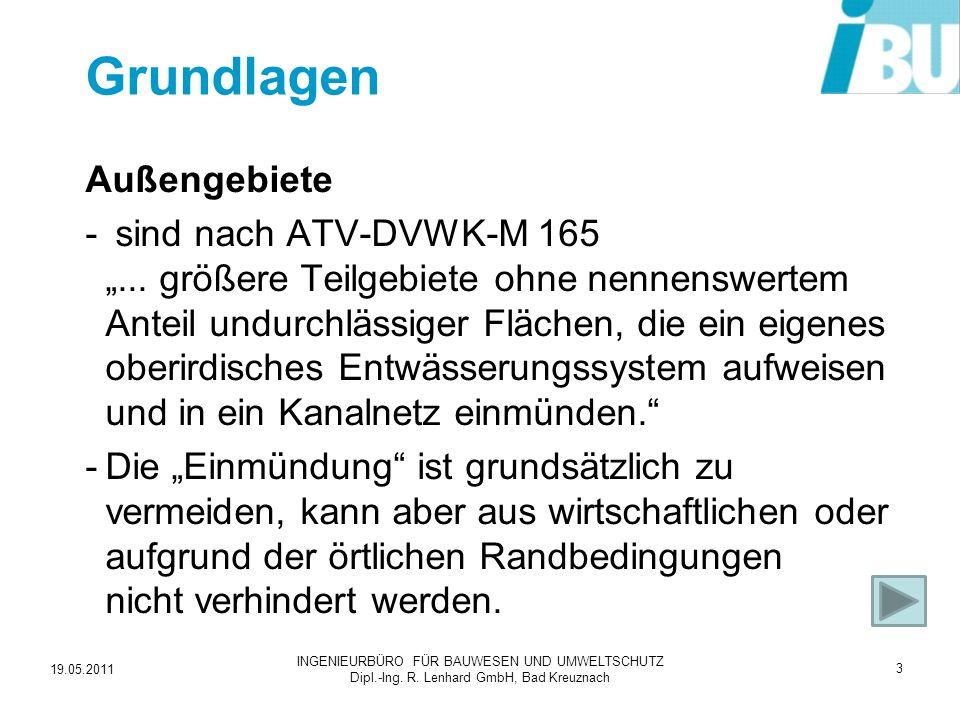 19.05.2011 INGENIEURBÜRO FÜR BAUWESEN UND UMWELTSCHUTZ Dipl.-Ing. R. Lenhard GmbH, Bad Kreuznach 24