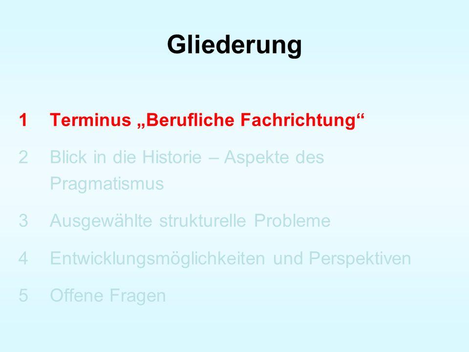 Betrachtungen der gewerblich- technischen Fachrichtungen (1) Abb.