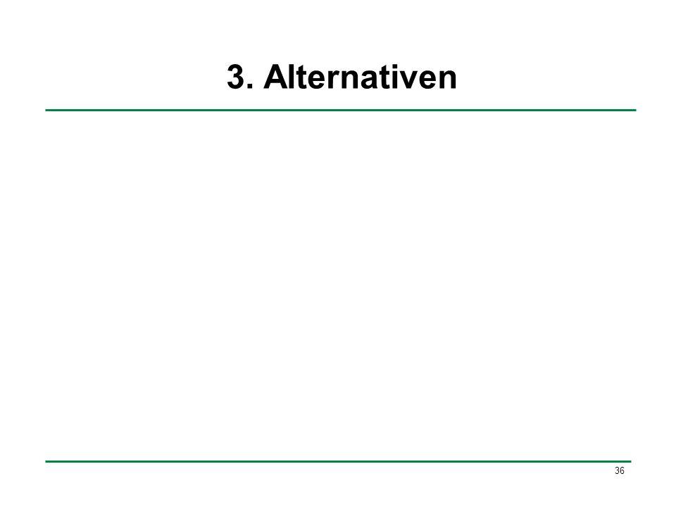 36 3. Alternativen