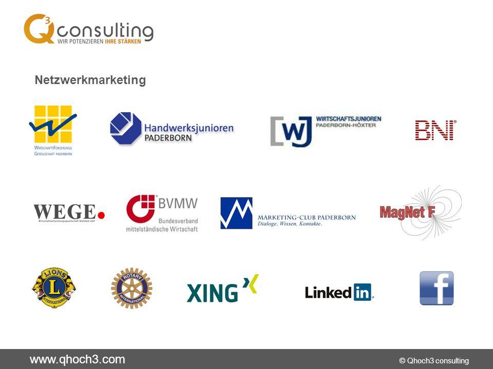www.qhoch3.com © Qhoch3 consulting Netzwerkmarketing