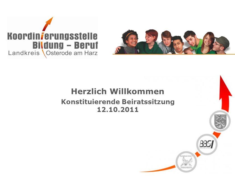 Herzlich Willkommen Konstituierende Beiratssitzung 12.10.2011