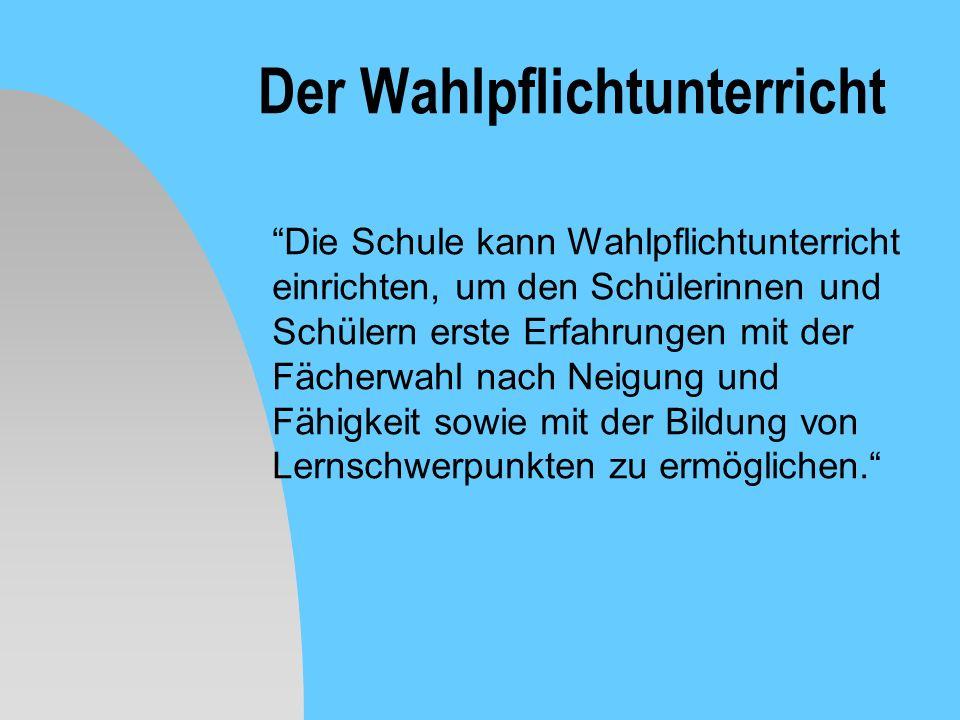 Die Stundentafel FachSchuljahrgang 5678910 Deutsch544443 1.