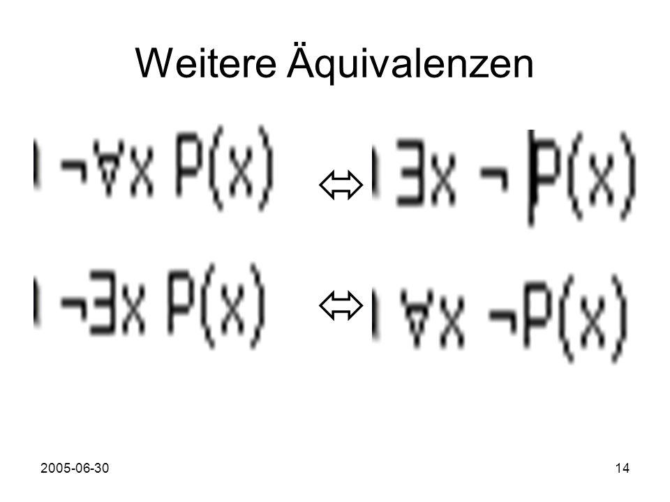 2005-06-3014 Weitere Äquivalenzen