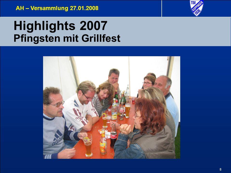 8 Highlights 2007 Pfingsten mit Grillfest AH – Versammlung 27.01.2008