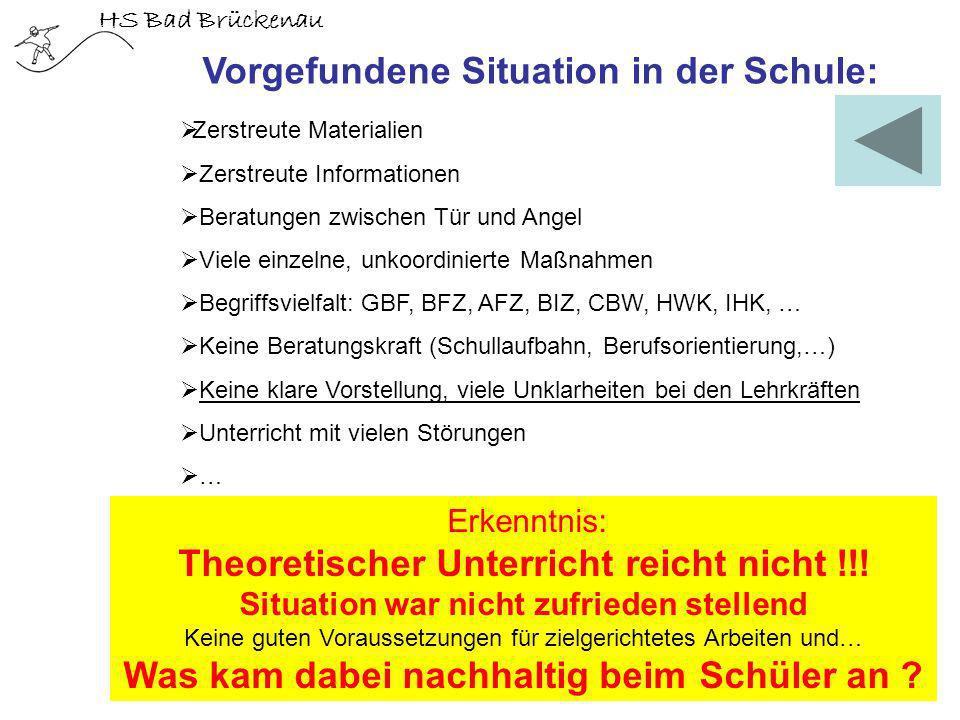 HS Bad Brückenau Zerstreute Materialien Zerstreute Informationen Beratungen zwischen Tür und Angel Viele einzelne, unkoordinierte Maßnahmen Begriffsvi
