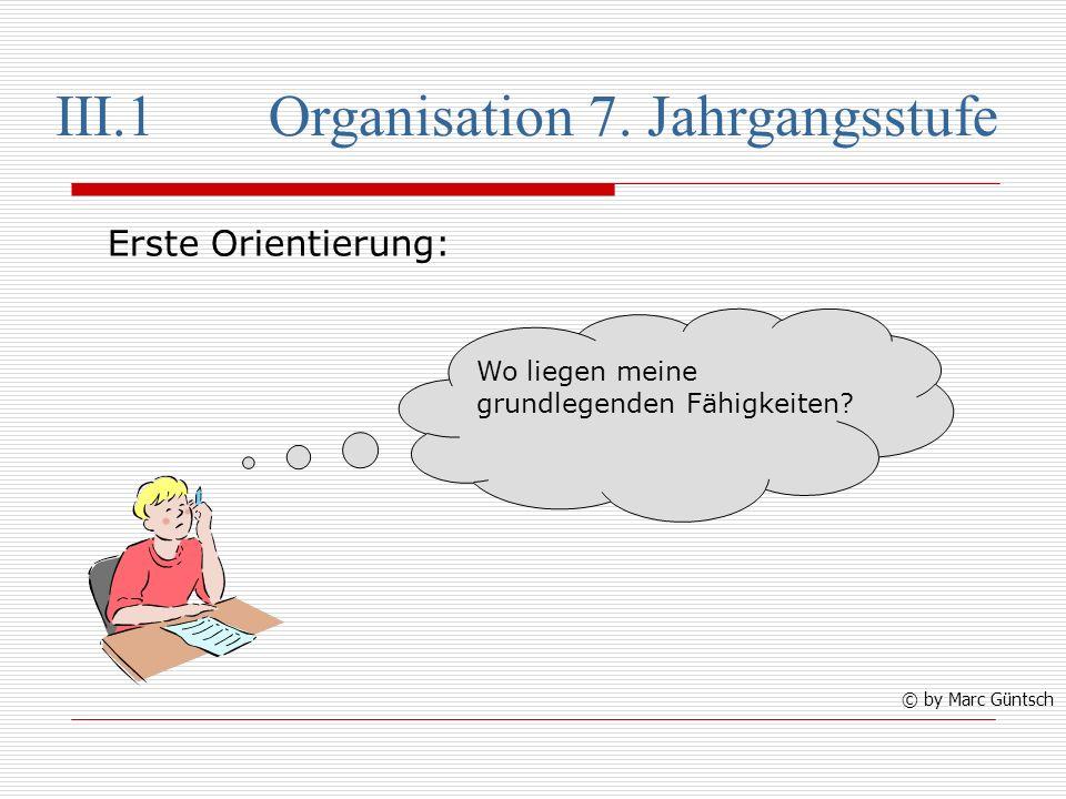 III.1Organisation 7.