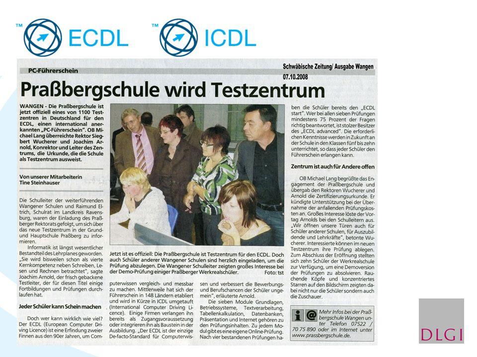 Das BIBB schlägt gemeinsam mit BMBF und der Europäischen Union vor, den Europäischen Computer Führerschein (ECDL) zu erwerben als IT-Baustein für den europass Lebenslauf.