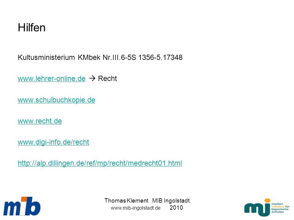Hilfen Kultusministerium KMbek Nr.III.6-5S 1356-5.17348 www.lehrer-online.dewww.lehrer-online.de Recht www.schulbuchkopie.de www.recht.de www.digi-inf