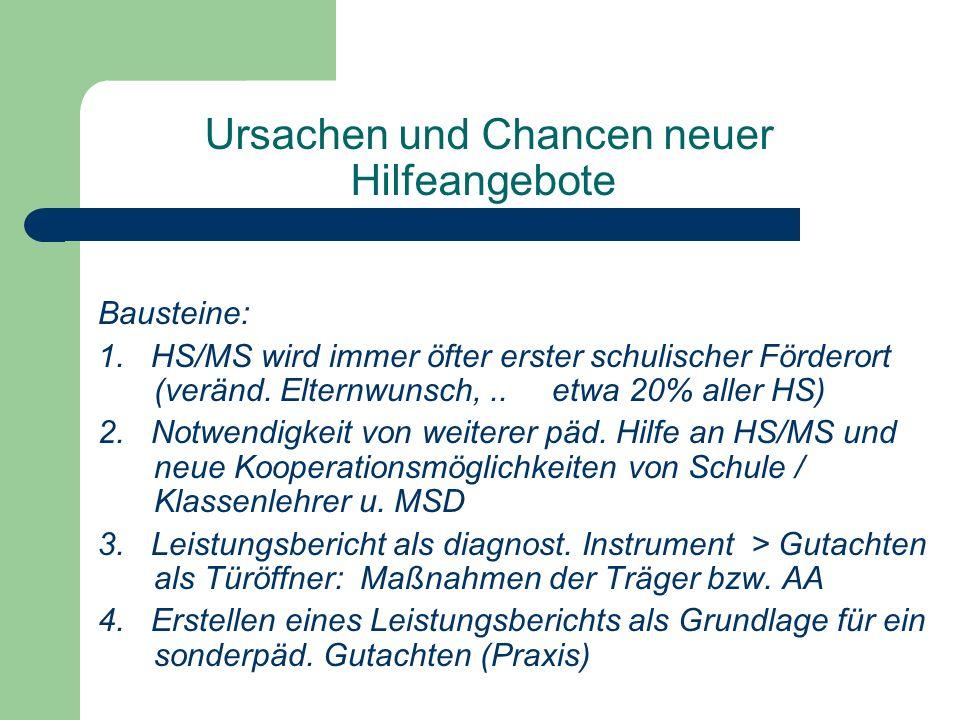 Ursachen und Chancen neuer Hilfeangebote Bausteine: 1.
