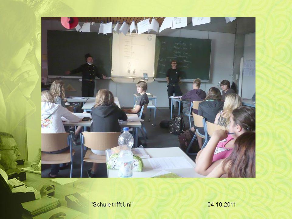 04.10.2011 Schule trifft Uni