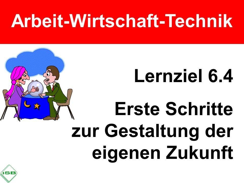 Arbeit-Wirtschaft-Technik Lernziel 6.4 Erste Schritte zur Gestaltung der eigenen Zukunft