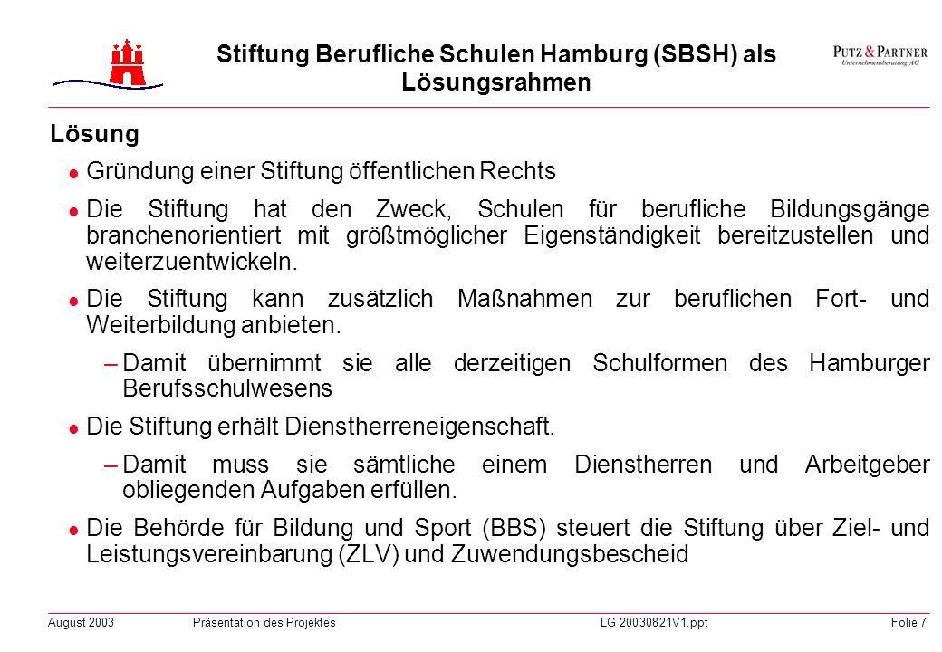 August 2003Präsentation des ProjektesLG 20030821V1.pptFolie 6 Empfehlungen der Bund-Länder-Kommission (BLK) für Bildungsplanung und Forschungsförderun