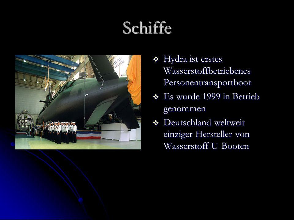 Schiffe Hydra ist erstes Wasserstoffbetriebenes Personentransportboot Hydra ist erstes Wasserstoffbetriebenes Personentransportboot Es wurde 1999 in B