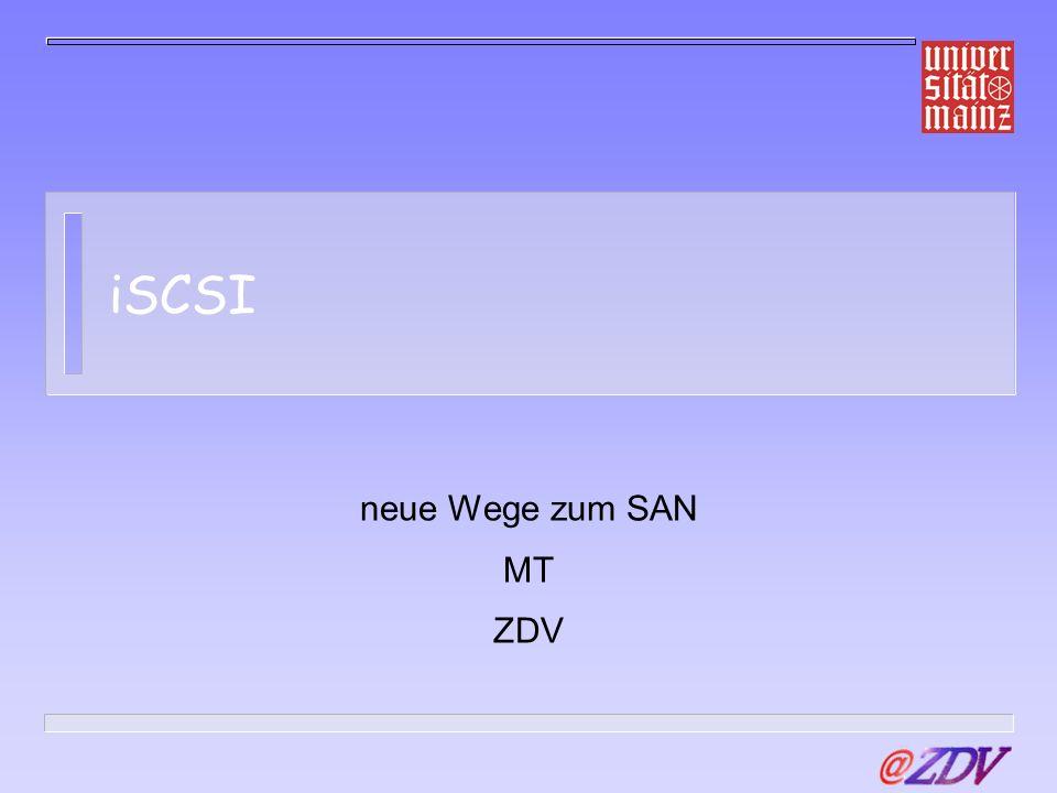 Pfad der Darstellung Was ist SCSI.Was ist ein SAN.