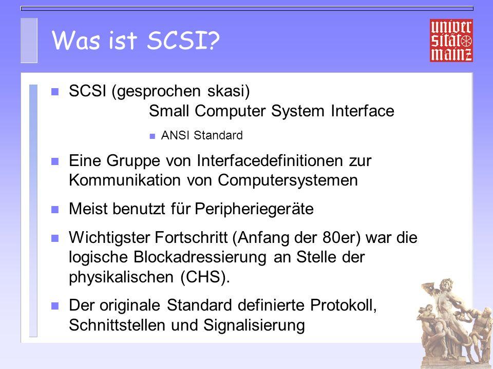 Probleme für iSCSI Sicherheit – Offene Netze, daher Authentisierung nötig Datenintegrität (TCP Checksum nur 16 Bit) – Optionale Header und Daten CRC32 definiert – Software Implementierungen leiden darunter Kommandoreihenfolge über multiple Pfade – Nummerierung der Kommandos: CmdSN SCSI entwickelt für niedrige Latenz – Command Collapsing – Status mit Daten|Error code mit Ceck Condition