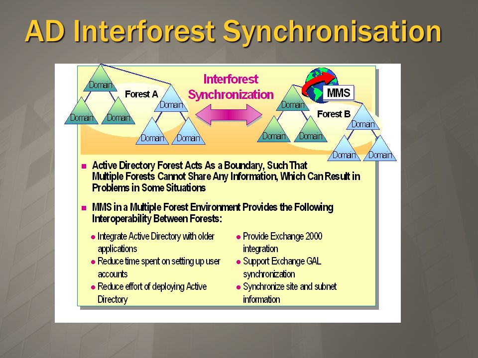 AD Interforest Synchronisation