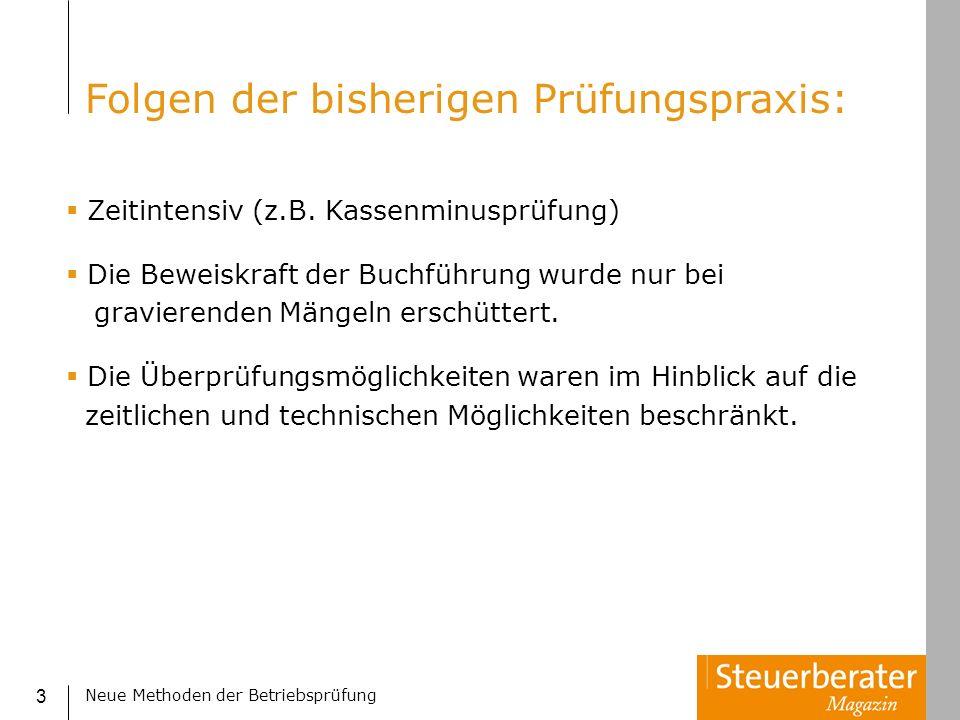 Neue Methoden der Betriebsprüfung 44 Benfords Law in der Praxis: Das Wissenschaftsmagazin des WDR QUARKS & Co lud aus dem WDR-System aus der Revisionsabteilung im November 2002 die Rechnungen der letzten beiden Vormonate herunter: 12.372 Posten.
