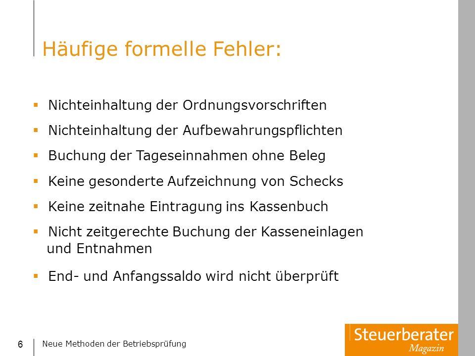 Neue Methoden der Betriebsprüfung 47 Benford Analyse 2.