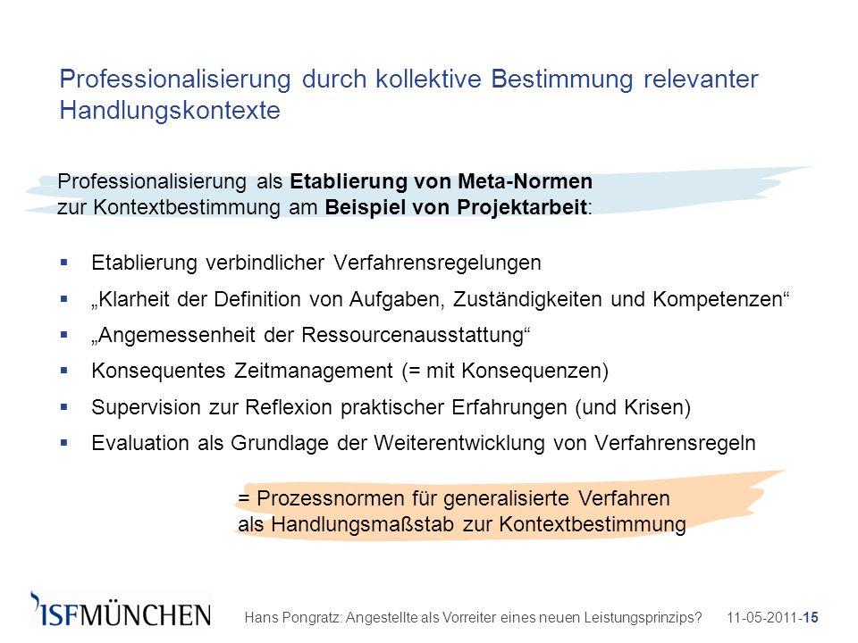 11-05-2011-15Hans Pongratz: Angestellte als Vorreiter eines neuen Leistungsprinzips? Professionalisierung durch kollektive Bestimmung relevanter Handl