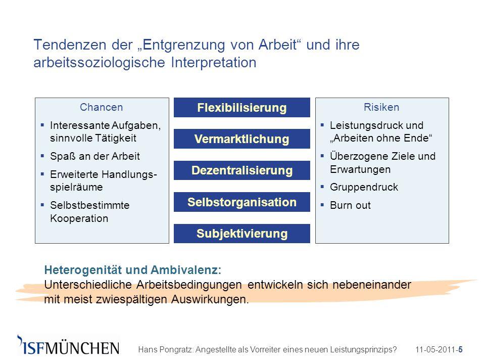 11-05-2011-5Hans Pongratz: Angestellte als Vorreiter eines neuen Leistungsprinzips? Tendenzen der Entgrenzung von Arbeit und ihre arbeitssoziologische