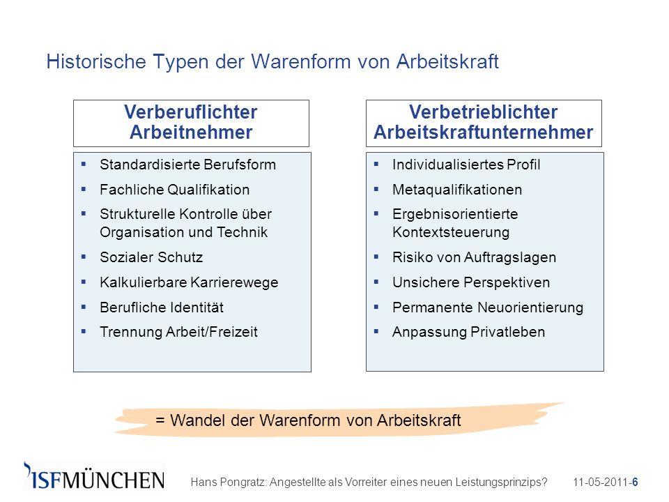 11-05-2011-6Hans Pongratz: Angestellte als Vorreiter eines neuen Leistungsprinzips? Historische Typen der Warenform von Arbeitskraft = Wandel der Ware