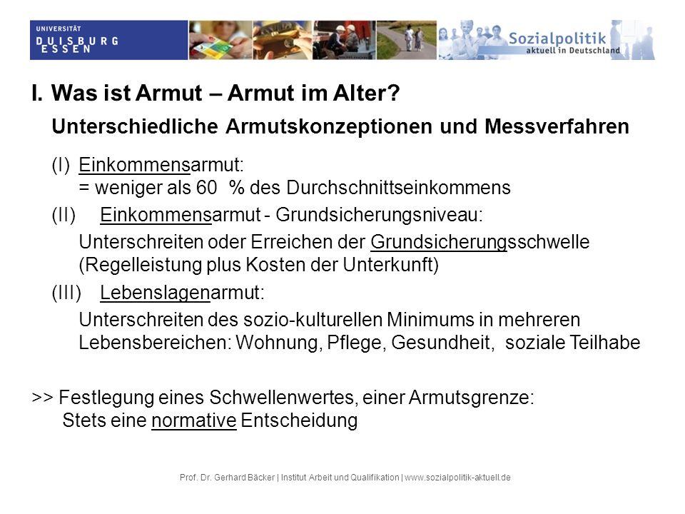 Prof.Dr. Gerhard Bäcker | Institut Arbeit und Qualifikation | www.sozialpolitik-aktuell.de IV.