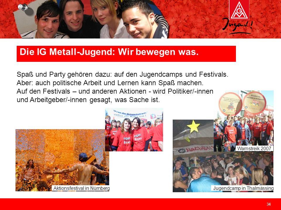 34 Jugendcamp in Thalmässing Aktionsfestival in Nürnberg Spaß und Party gehören dazu: auf den Jugendcamps und Festivals. Aber: auch politische Arbeit